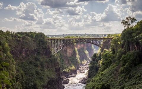 Victoria Falls Bridge in Zambia